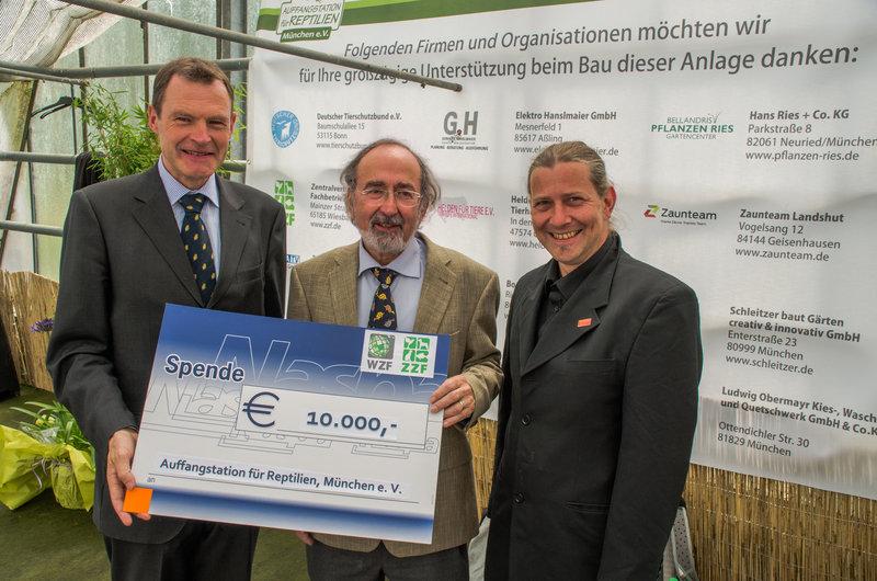 ZZF spendet 10.000 Euro für Schildkrötenauffangstation