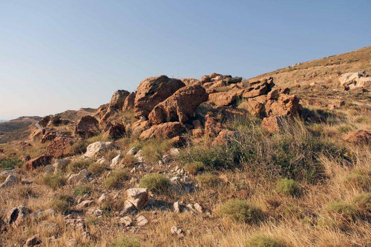 Kalkstein und die Bodenabmagerung