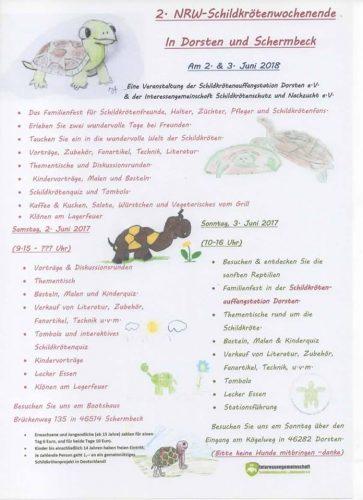 Und der Spendeneuro geht an… Neuigkeiten zum 2. NRW-Schildkrötenwochenende 2018