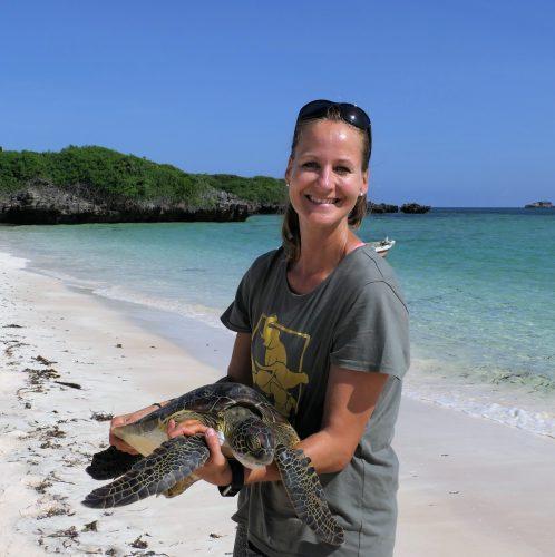 Ein Einsatz zum Schutz der Meeresschildkröten in Watamu, Kenia