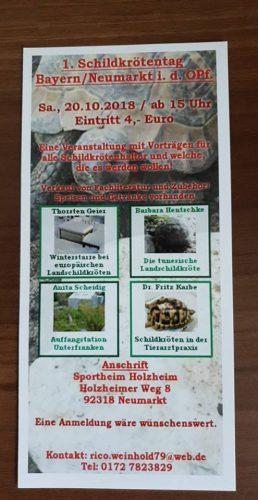 1. Schildkrötentag in der Oberpfalz