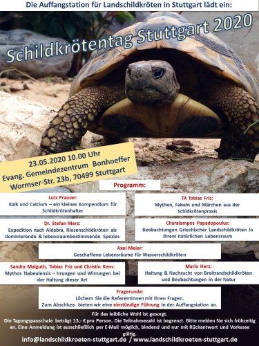Das Programm vom Schildkrötentag Stuttgart am 23.05.2020
